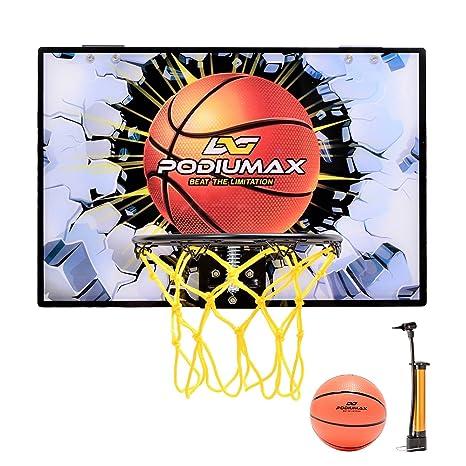 PodiuMax Mini baloncesto aro Set para puerta, aros de baloncesto ...