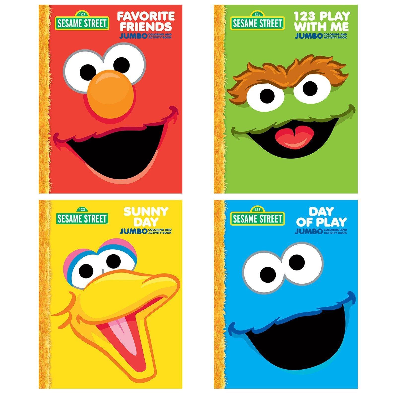 Sesame Street Jumbo Coloring & Activity Book pdf epub