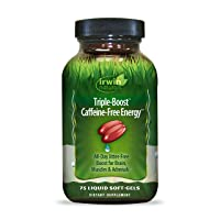 Irwin Naturals Triple-Boost Caffeine-Free Energy - Lasting, Jitter-Free Focus -...