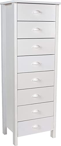 8 Drawer Lingerie Bureau White