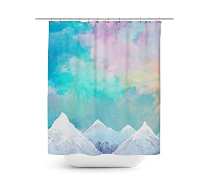Amazon Queen Of Cases Mountain Top Sunrise Shower Curtain