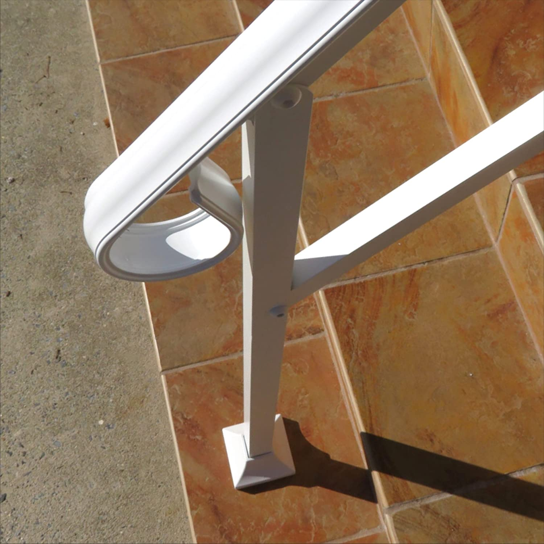 Instantrail 4 Step Adjustable Handrail (White For Wood Steps)