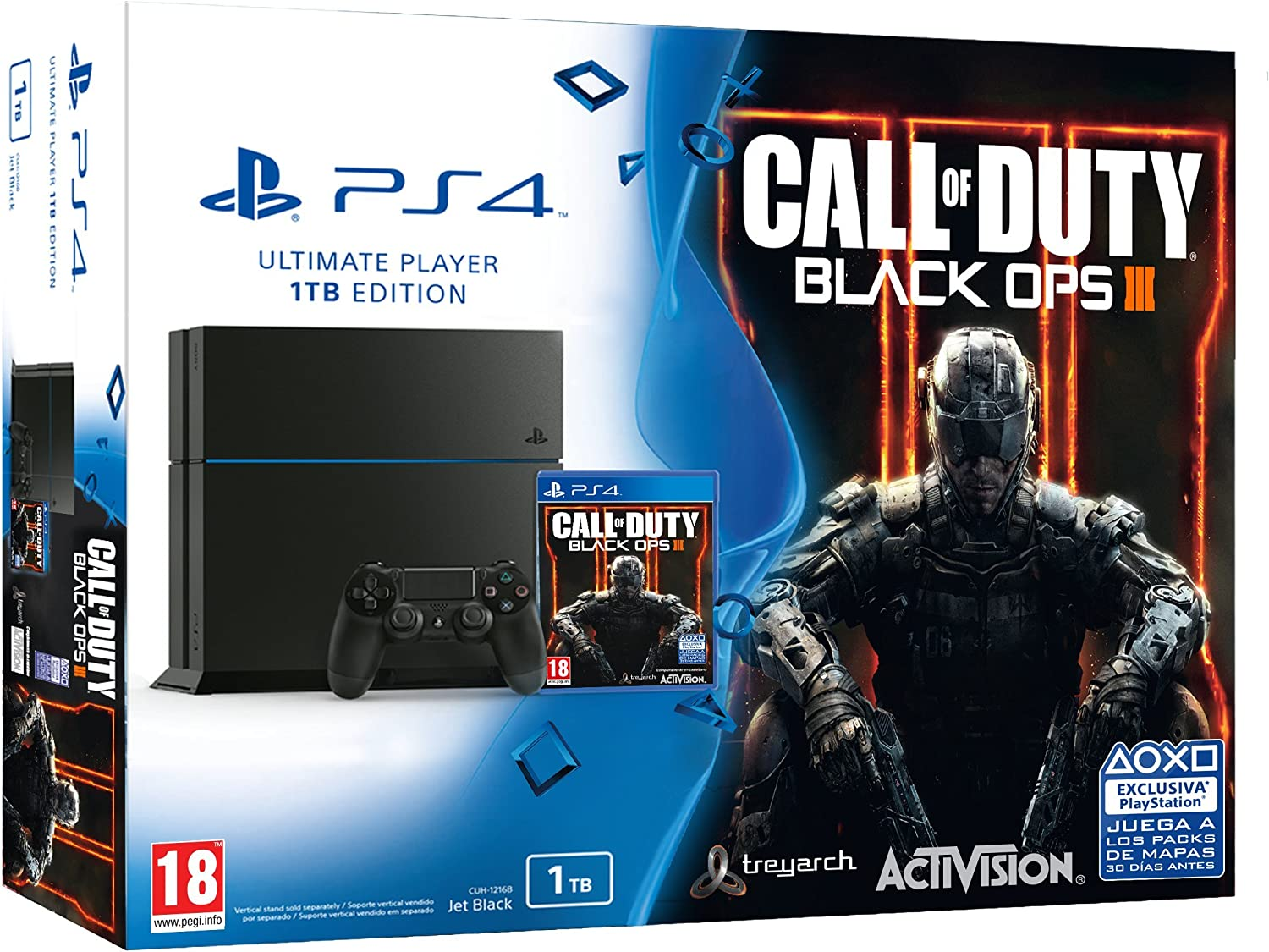 PlayStation 4 - Consola 1 TB + COD: Black Ops 3: Amazon.es ...