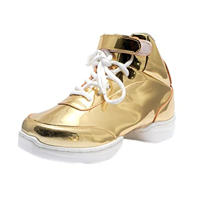 Nene's Collection Gold Women's Dance Fitness Ankle High Top Sneakers Nene's Shoes | Ankle & Bootie