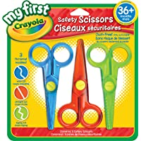 Crayola My First Safety Scissors, Art Supplies for Toddlers, for Girls and Boys, Gift for Boys and Girls, Kids, Ages 3, 4, 5,6 and Up, Holiday Gifting, Stocking Stuffers, Arts and Crafts