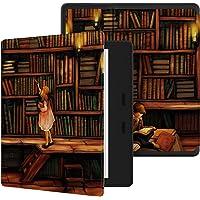 Ayotu Funda para el Nuevo Kindle Oasis- (9 generación, lanzado solo en 2017) Estuche Honeycomb Version PU con despertador / reposo automático, nuevo estuche impermeable 7''Kindle Oasis, serie Soft Shell KO-10 The Library