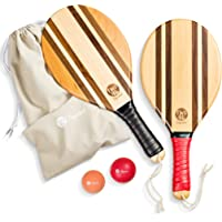 two46   Premium Beach-Bat Set   Frescobol - De populaire sport uit Zuid-Amerika   Handgemaakte, hoogwaardige rackets van…