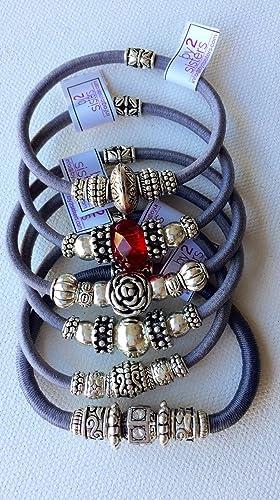 Pack de pulseras-coleteros gris: Amazon.es: Handmade