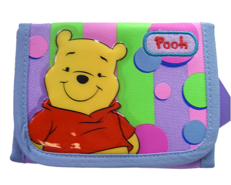 Disney Winnie the Pooh TriFold Purple Velcro Wallet - Pooh Kids Wallet
