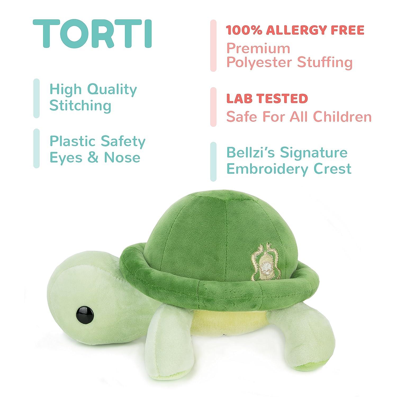Amazon.com: Bellzi Green Turtle Stuffed Animal Plush Toy - Adorable ...