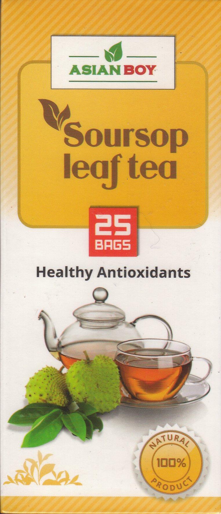 Asian Boy Healthy Antioxidants Tea - 25 Bags (Soursop Leaf)