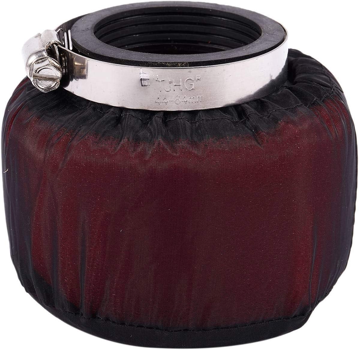 Esponja para filtro de aire de espuma y cuello curvado para ciclomotores kayo color rojo Cuasting BSE scooters 48 mm motos
