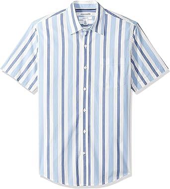 Amazon Essentials – Camisa de popelín de manga corta de corte entallado para hombre: Amazon.es: Ropa y accesorios
