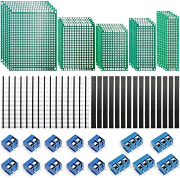 Doppelseitig Lochrasterplatte Kit Lochrasterplatine Leiterplatte Platine PCB