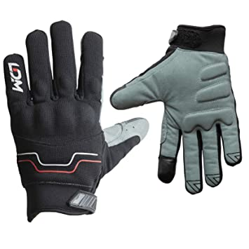 LDM Avent-X Waterproof Motorbike Gloves Black Windproof Warm Winter Motorcycle Mitts Armoured XXL 25.5cm-27cm