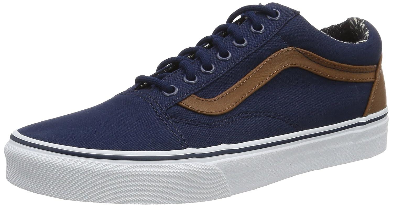 Vans Unisex Old Skool Classic Skate Shoes B01I22Q7O0 9.5?B(M) US Women / 8 D(M) US Men|Dress Blues/Material Mix