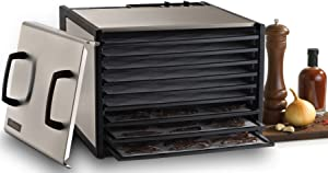 Excalibur D900S 9-Tray Electric Food Dehydrator, Silver (Discontinued