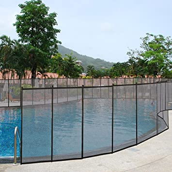 Giantex 4x48 In Ground Swimming Pool Fence Child Barrier Pool