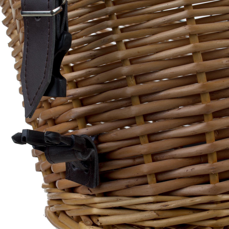 M-Wave Perros/ /Cesta de mimbre Cesta bicicleta para portaequipajes trasero para mascotas perro cesta