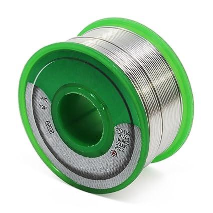hseamall 0,6 mm plomo alambre de soldadura Sn99.3 CU0.7 colofonia ...