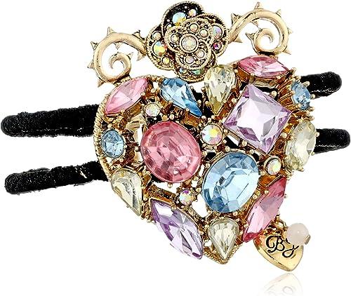 """Diamond Accent Open Row Bangle Bracelet rose en plaqué or 7/"""""""
