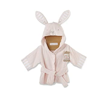 7045011ae Amazon.com : Baby Aspen Baby's Bath Time Bunny Hooded Spa Robe, Pink ...