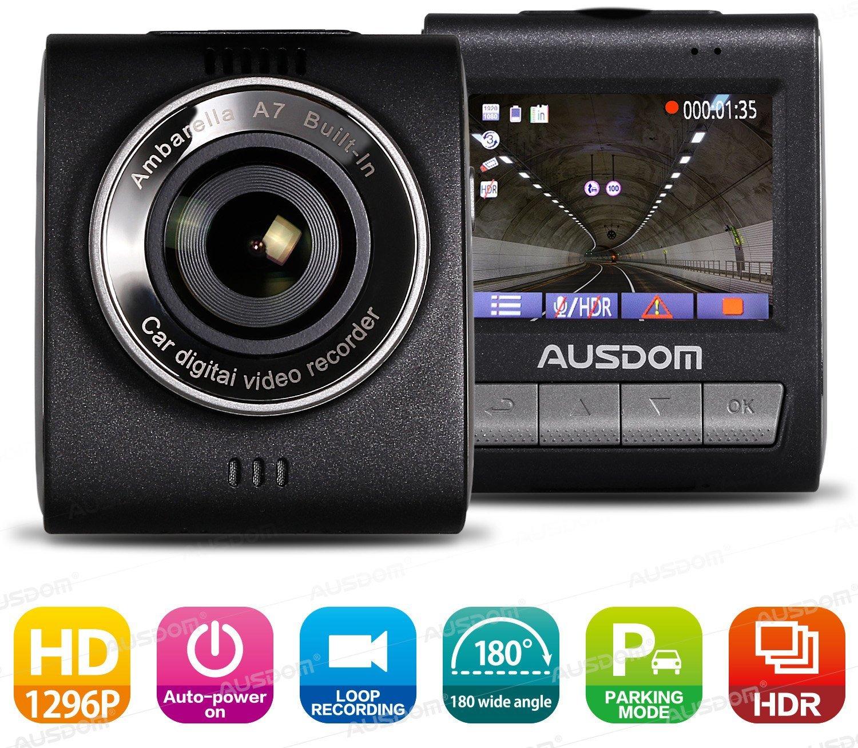con modo aparcamiento sensor de gravedad Ausdom AD109 C/ámara de coche grabaci/ón Full HD grabaci/ón de emergencia y en bucle autoencendido