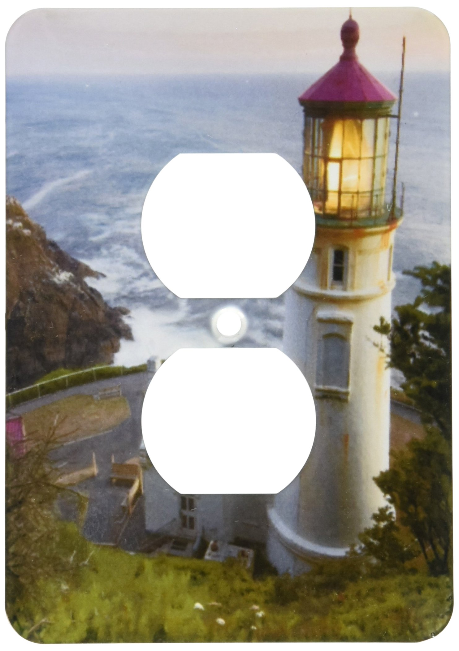 3dRose lsp_94104_6 Haceta Head Lighthouse, Oregon, Usa Us38 Rkl0018 Raymond Klass 2 Plug Outlet Cover by 3dRose