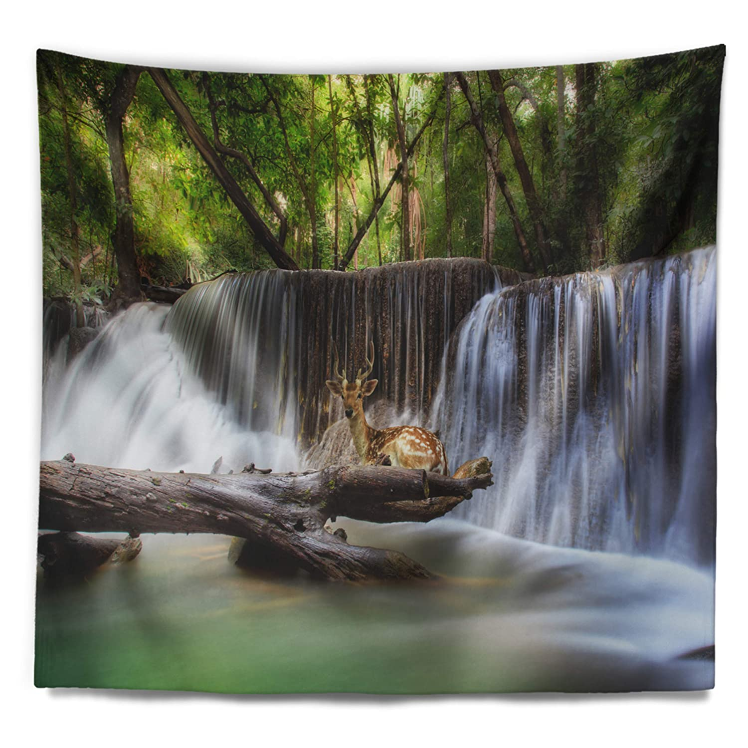 x 32 in 39 in Designart TAP7123-39-32  Huai Mae Kamin Waterfall Photo Abstract Blanket D/écor Art for Home and Office Wall Tapestry Medium in