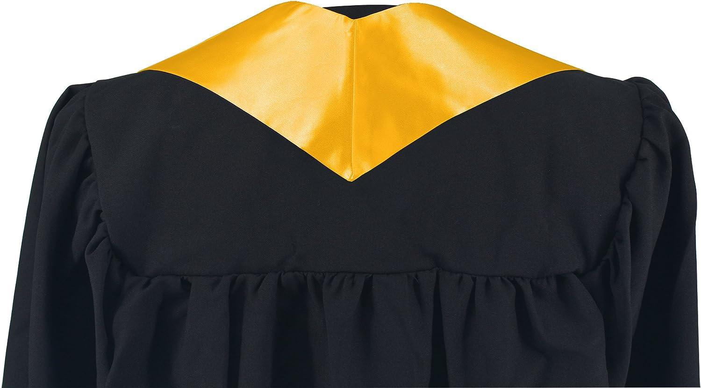 GraduationMall Abschluss Stola f/ür akademische Kirche Priester Chor Stola Stahl 60 Unisex Erwachsene 16 farben