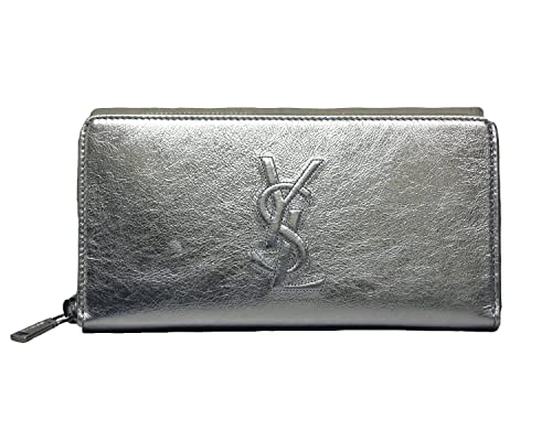 Yves Saint Laurent 352904 BRF0O - Cartera para Pasaporte Mujer, Plata (Plateado) - YSLBDJSILVERZIP: Amazon.es: Equipaje