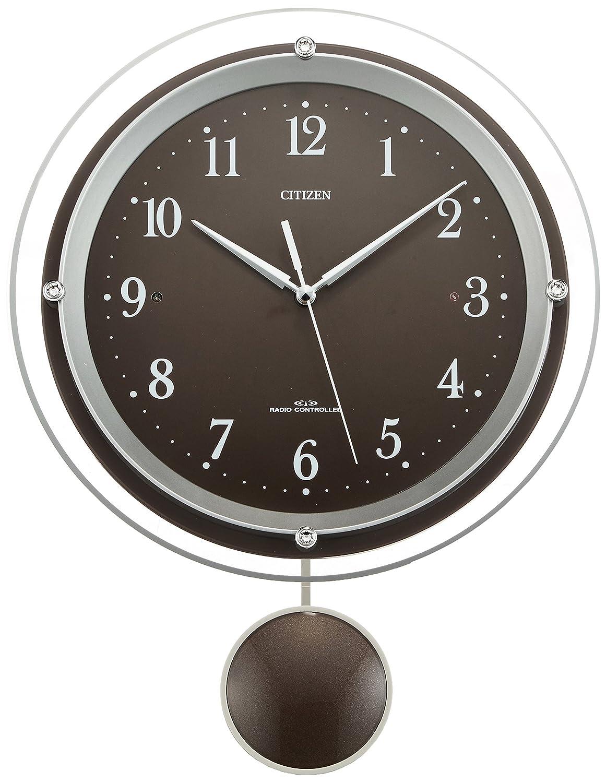 CITIZEN(シチズン) 電波掛け時計 パルミューズスイング 振り子時計 ブラウン 8MX401-006 B0051MJ0SK ブラウン ブラウン