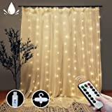 Curtain String Lights with Remote, LT 300 LEDs Window Curtain Fairy Lights 8 Modes 9.8ftx9.8ft USB Powered Fairy Lights…