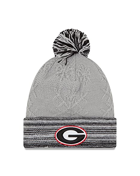 new style 9434b db9f4 New Era NCAA Georgia Bulldogs Women s Snow Crown Redux Cuff Knit Beanie,  Gray, One