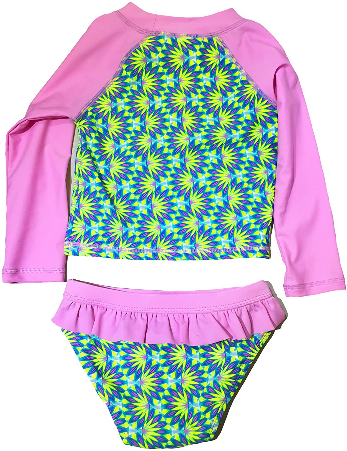 Tankini INGEAR Baby//Toddler Girls Swimsuit Rashguard 2 Piece Set UPF 50