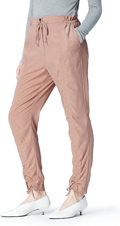 Marca Amazon - find. Pantalón Fruncido para Mujer
