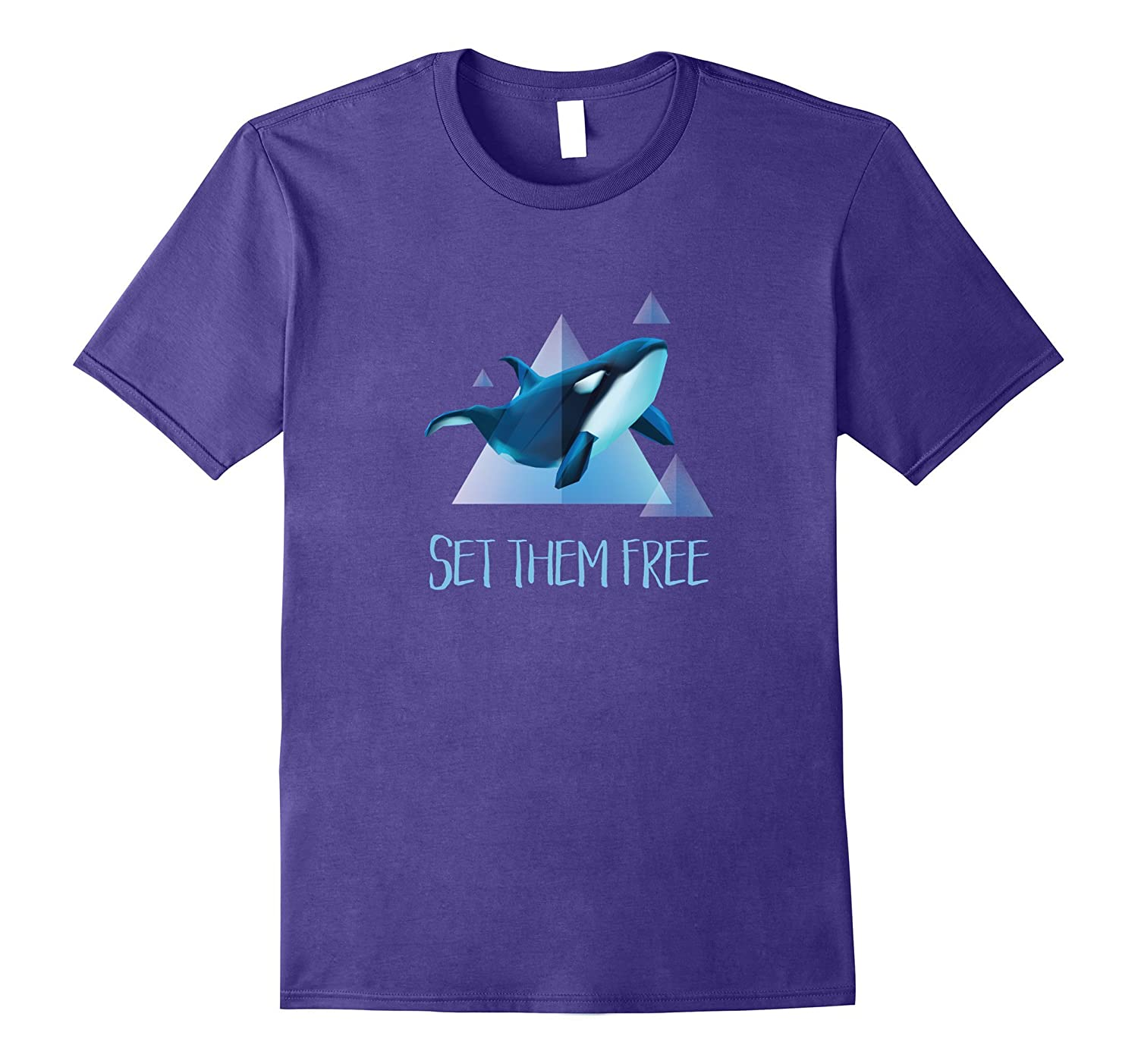 Set Them Free Orca Whale Animal Rights T-Shirt-Vaci