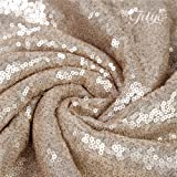 TRLYC 3 Pieces 12x120-Inch-Champagne Sequin Table