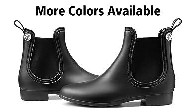 6e45d068ab9ed3 Silky Toes Women s Fashion Elastic Slip On Short Rain Boots (36 EU