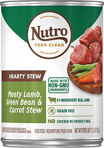 Nutro Hearty Stews Adult Wet Dog Food, 12.5 oz. Cans Pack of 12