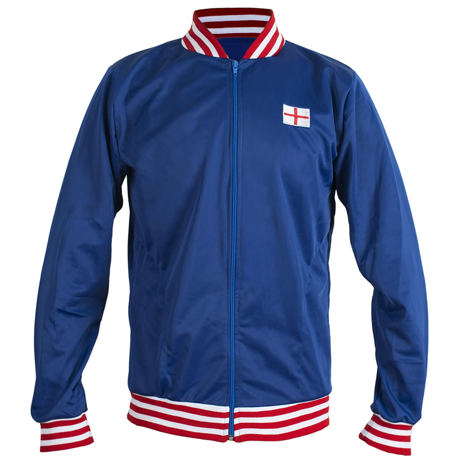 70s Workout Clothes | 80s Tracksuits, Running Shorts, Leotards England 1966 Retro Football Jacket Classic Vintage Tracksuit Jumper Man Top-Replica $53.95 AT vintagedancer.com