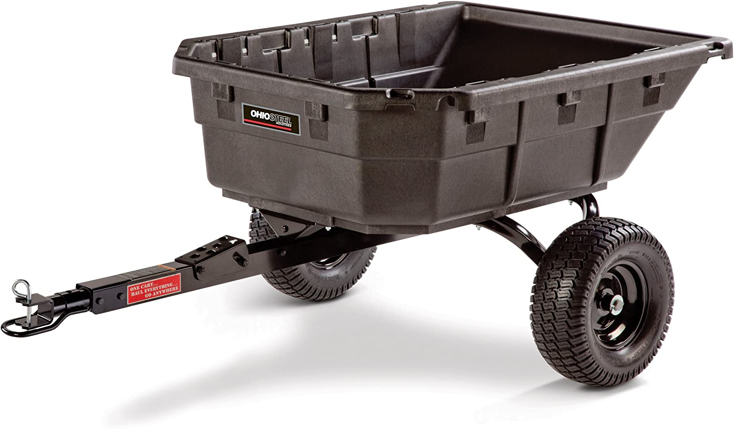Best dump cart for lawn tractor: Ohio Steel 4048PHYB Pro Grade Hybrid Tractor/ATV Cart
