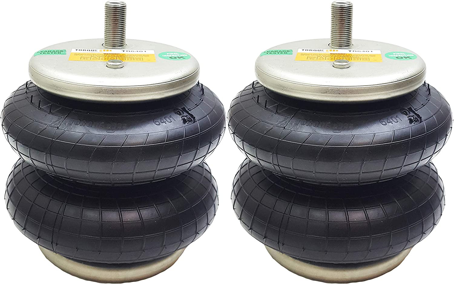 Pair of Torque TR6401 Air Spring Suspension Replacement bag for Ride Rite 6401 kits 1//4 NPT