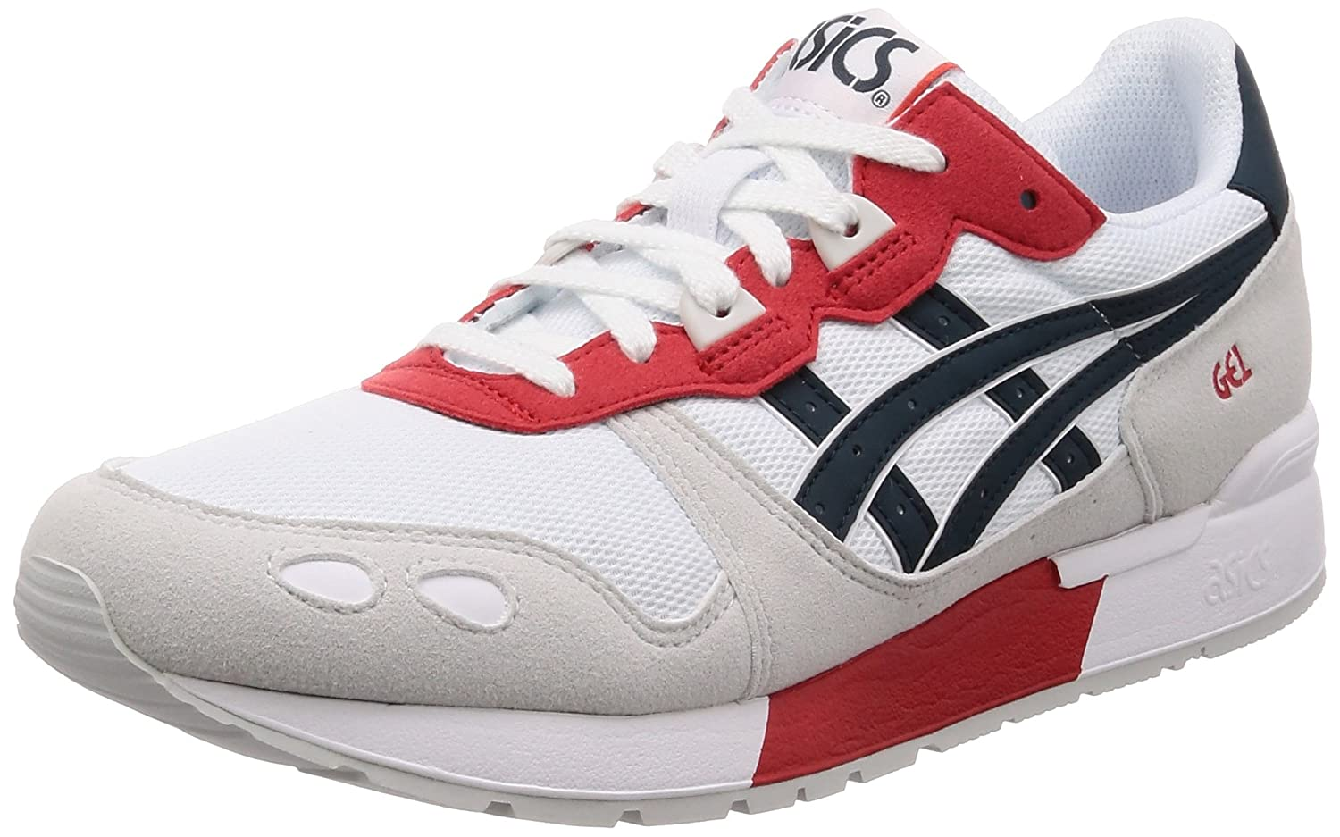 Asics Gel-Lyte, Zapatillas de Running Unisex Adulto 44 EU|Blanco (White/Dark Ocean 100)