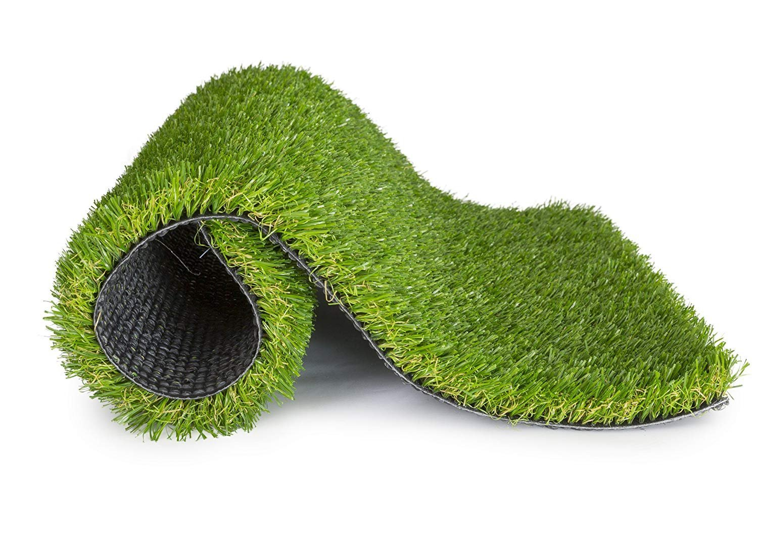 SavvyGrow 5.5 x 6.5 square Artificial Grass for Dogs Astroturf-Rug Synthetic Astro Fake Turfs for Patios, 5.5ft x 6.5ft = 35.7 sq ft, Green