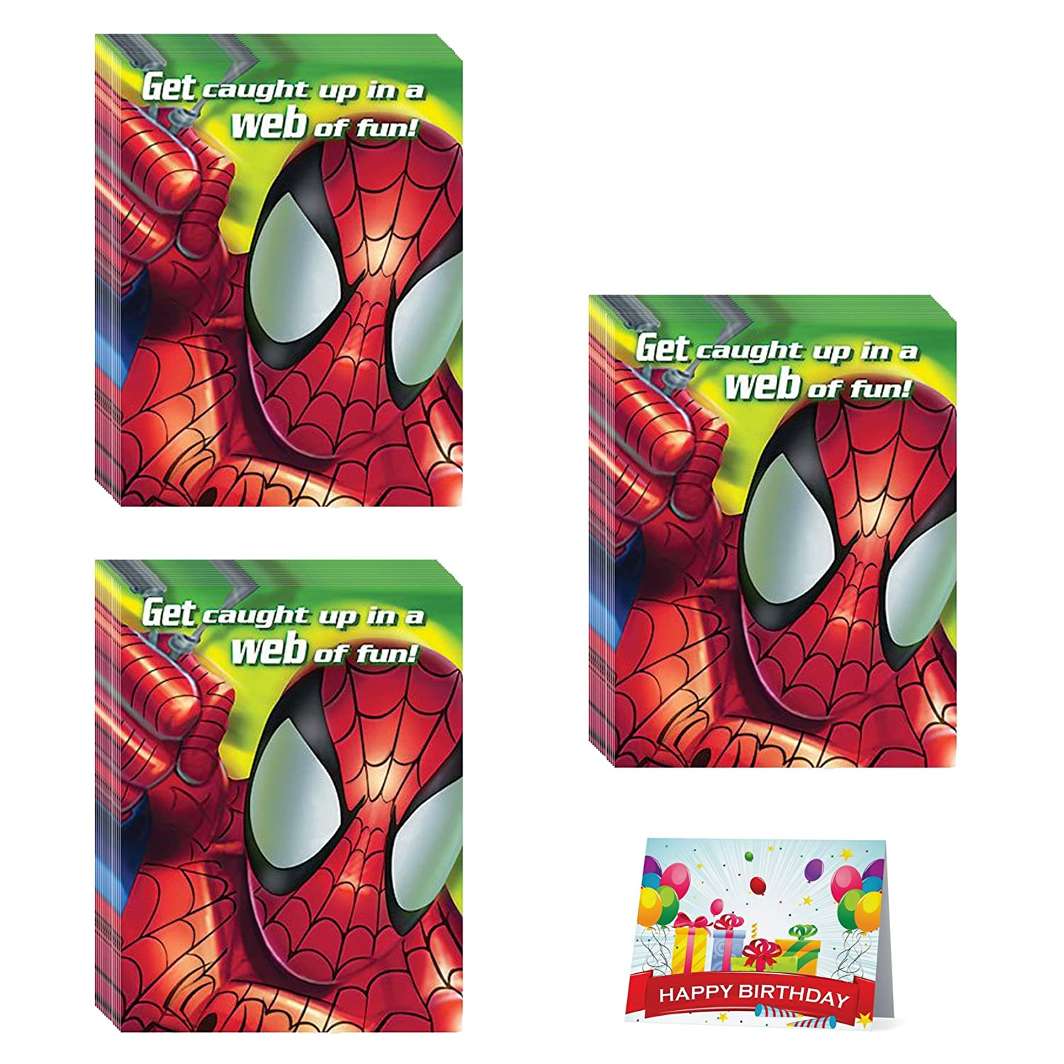 Amazon.com: Spider-man Birthday Party Invitations Bundle Pack of 24 ...