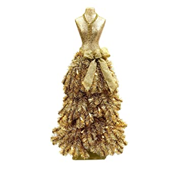premium 3 dress form holiday christmas tree mini mannequin champagne