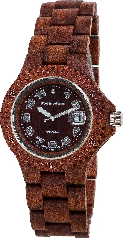 PREMIUM Holz-Uhr TENSE Mens Compass (made in Canada) - Rosenholz G4100R - Herrenuhr G4100R
