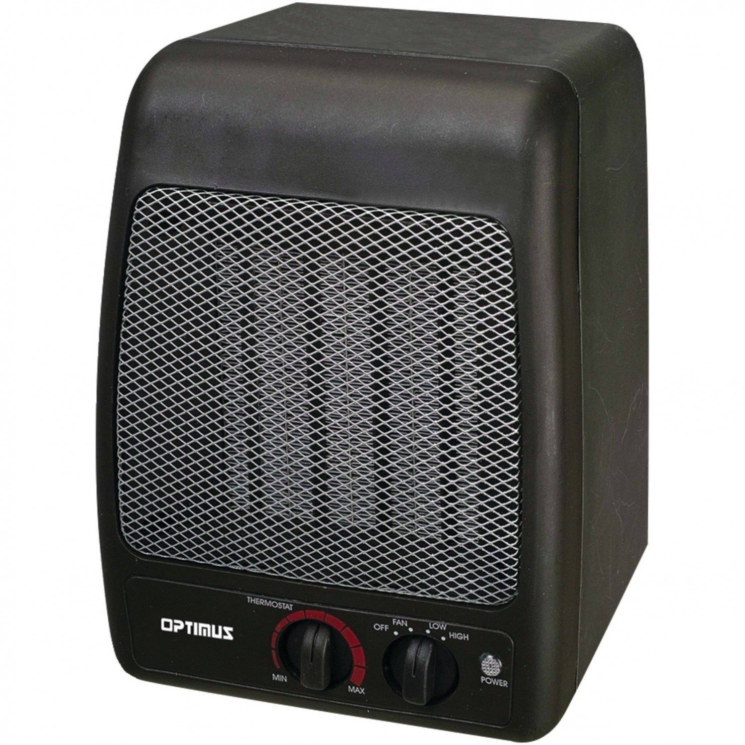 Portable Heater, Optimus H-7000 Black Small Electric Room Portable Patio Heater