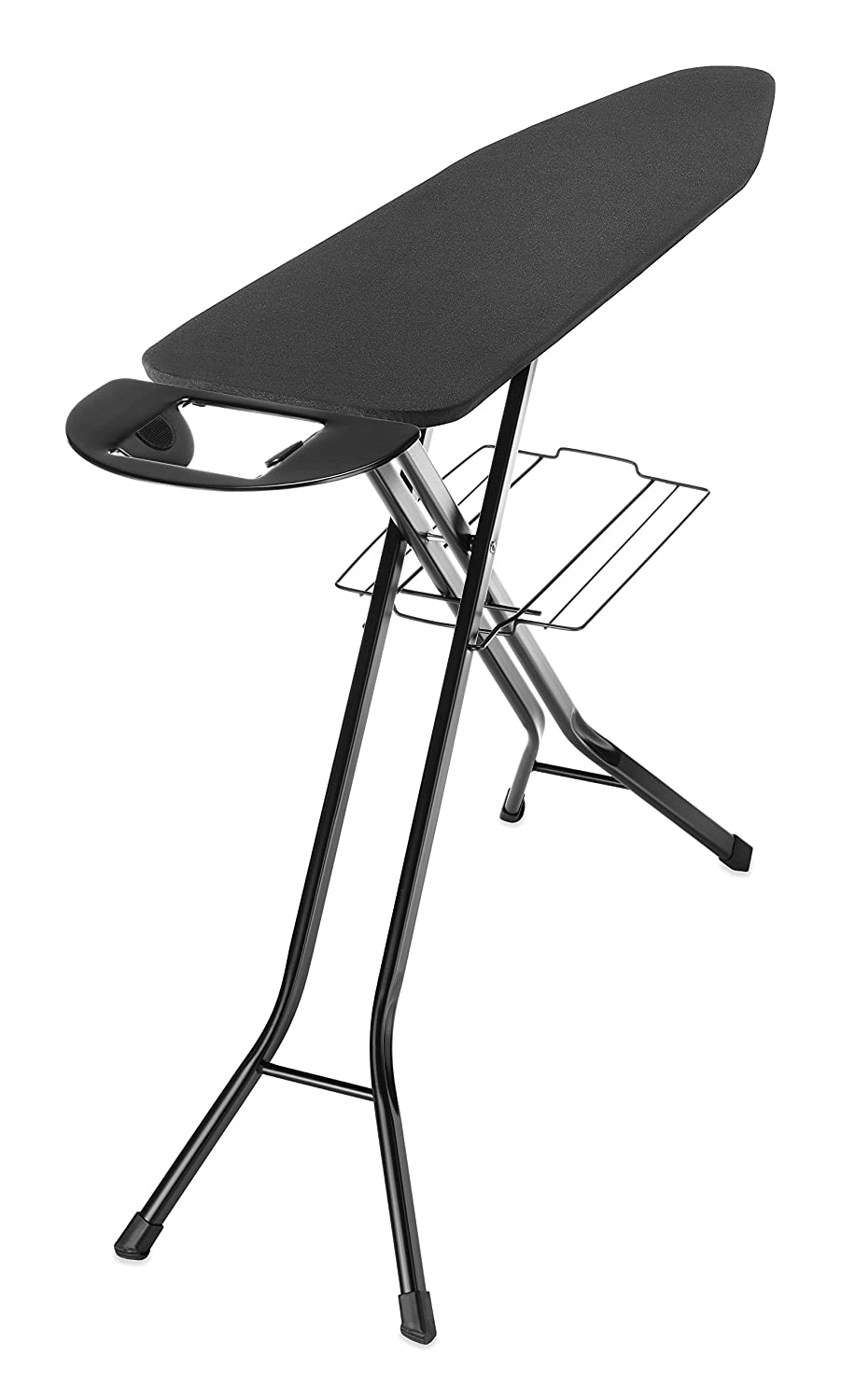 Whitmor Deluxe 4-Leg Ironing Board w/Mesh Top and Iron Rest Black 6152-6879
